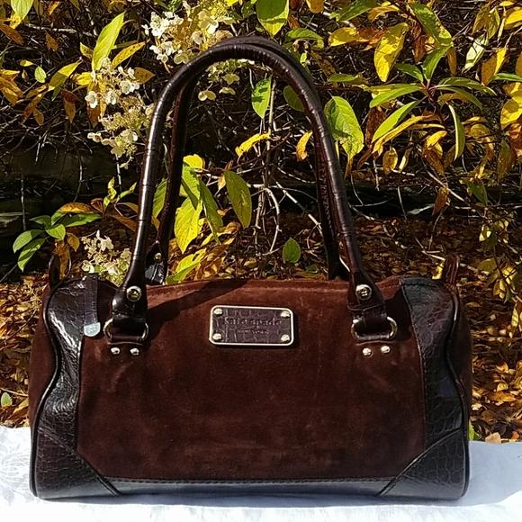 kate spade Handbags - Kate Spade suede duffel handbag